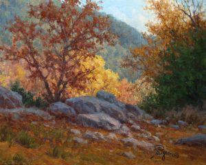 Landscape oil painting autumn trees by William Byron Hagerman