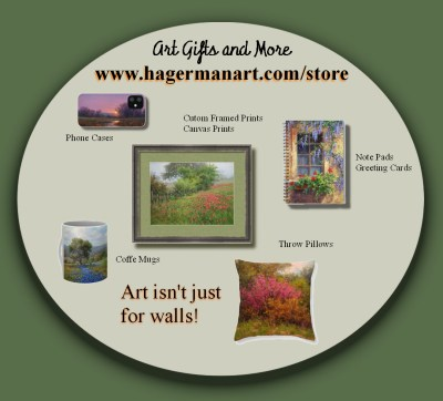 art gifts and prints by artist William Byron Hagerman featuring landscape oil paintings