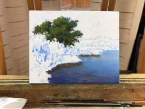 oil painting landscape demonstration