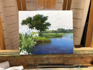 Oil painting landscape demo by William Hagerman