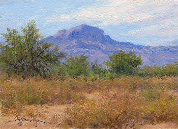 Arizona landscape painting in acrylic by William Hagerman