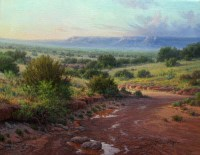 West Texas landscape oil painting by William Hagerman