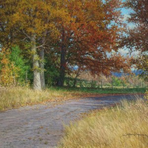 autumn landscape realistic oil painting by william hagerman