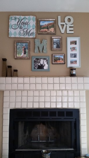 Mantle Collage Crooked