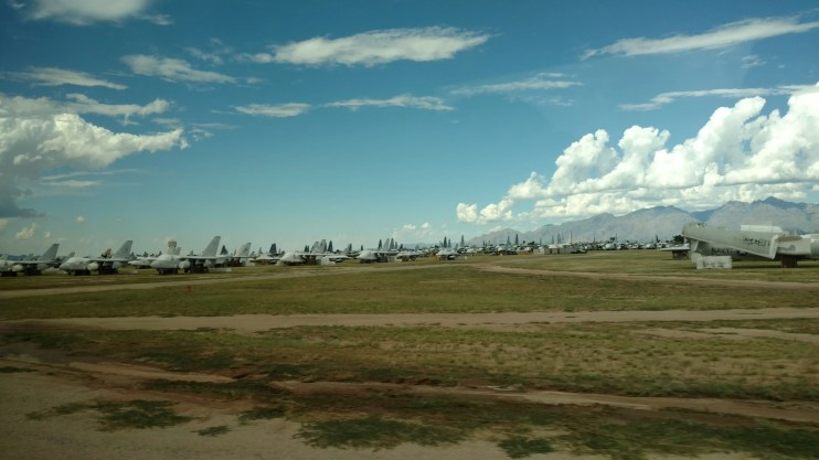 """The """"aircraft boneyard"""" at Davis-Monthan Air Force Base is a site to see. The bus tour offered through the Pima Air and Space Museum is a must for anyone visiting Tucson, AZ."""