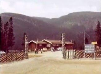 Bilde fra Haglebu Turistheim på 80-tallet.