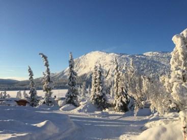 Haglebu i vinterstemning. Foto.
