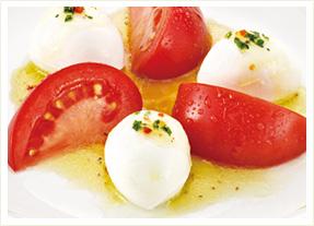 トマトとフレッシュチーズ