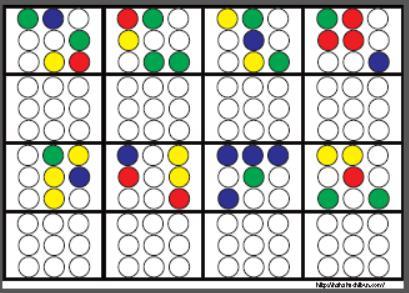 丸シール空間認知3x3_10