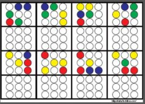 丸シール空間認知3x3_14