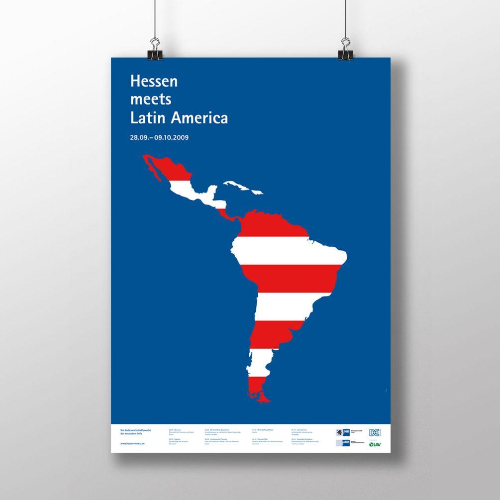 """Foto: Plakat der Veranstaltung """"Hessen Meets Latin Amercia"""" der hessischen IHKs"""