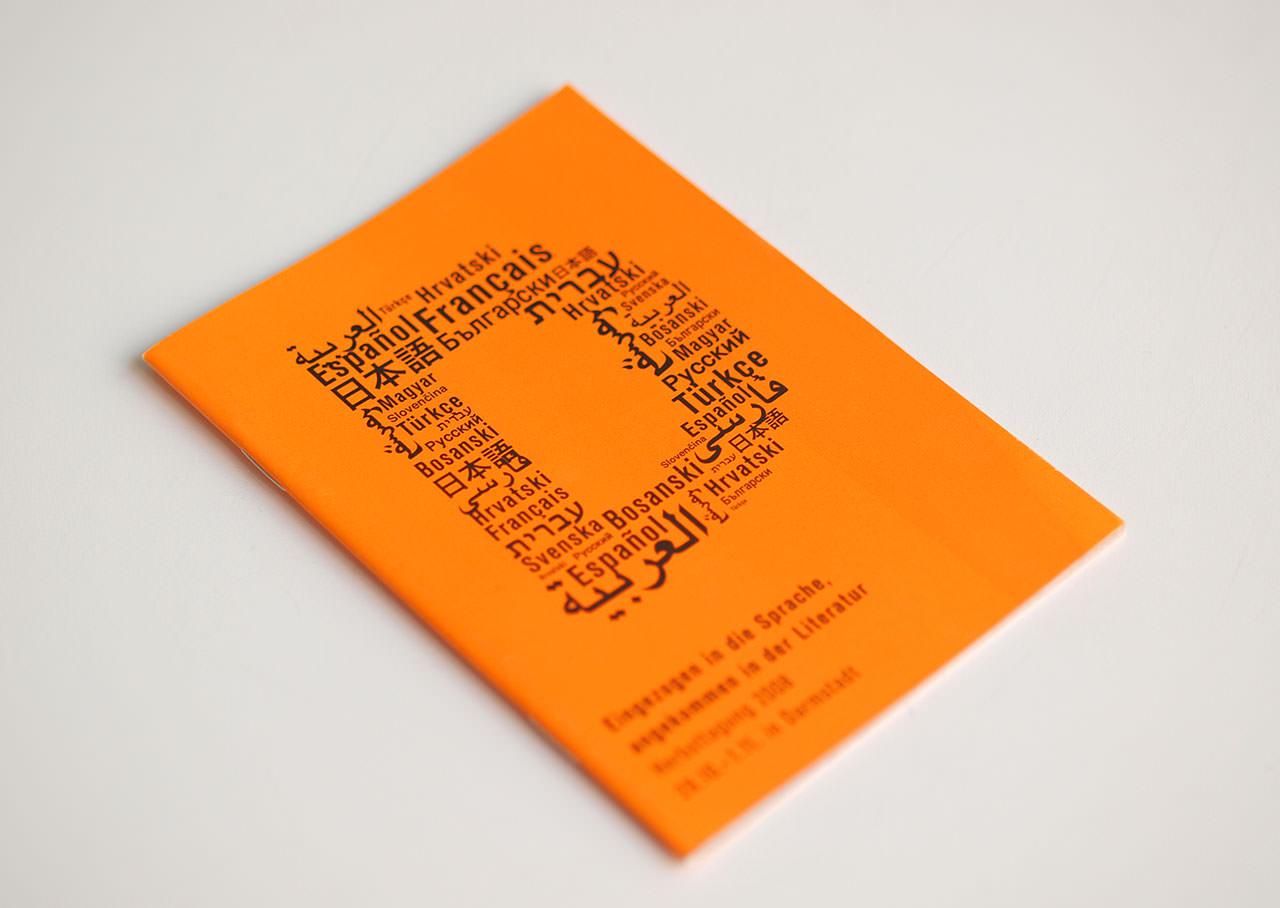 Programmheft mit Schlüsselmotiv der Herbsttagung der Deutschen Akademie für Sprache und Dichtung