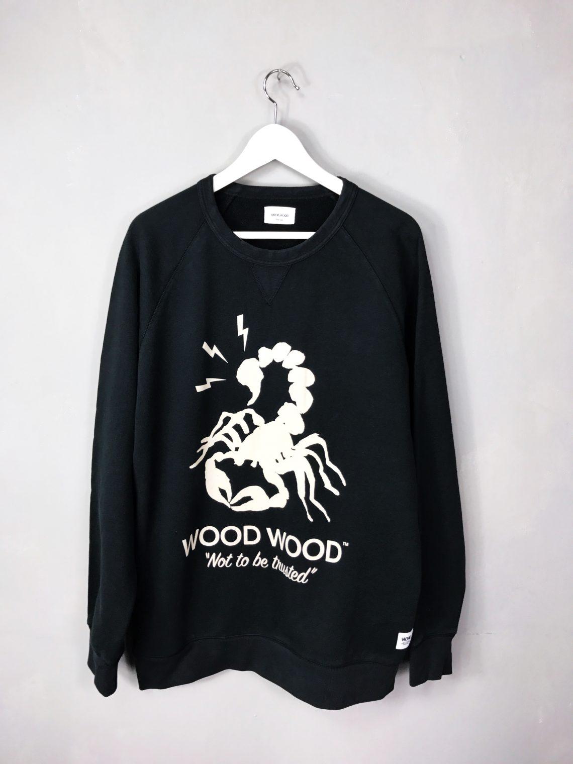 "WOOD WOOD Scorpion Sweatshirt ""NOT TO BE TRUSTED"""