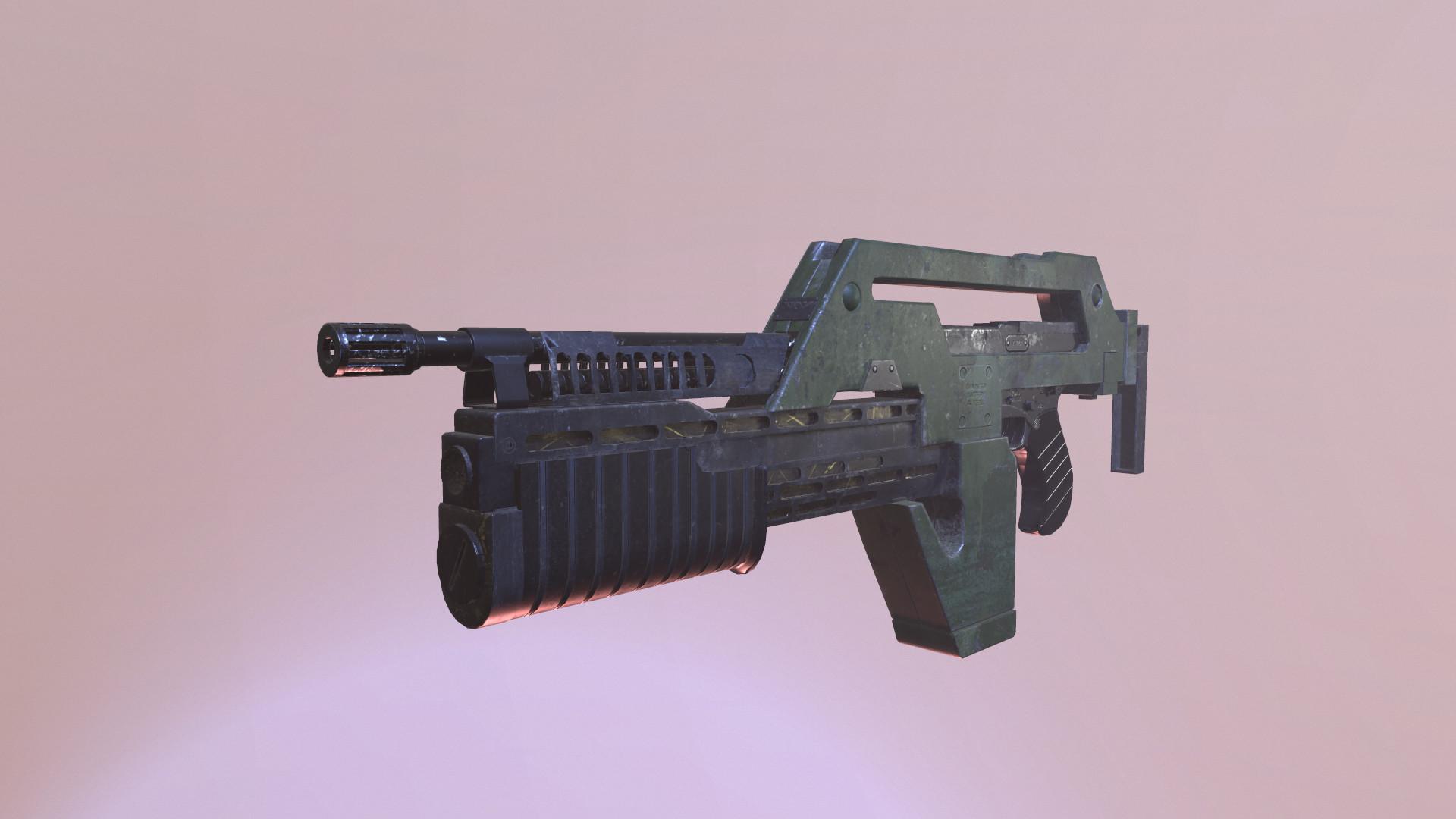 Pulse Rifle from Aliens   Jarrod Hahn