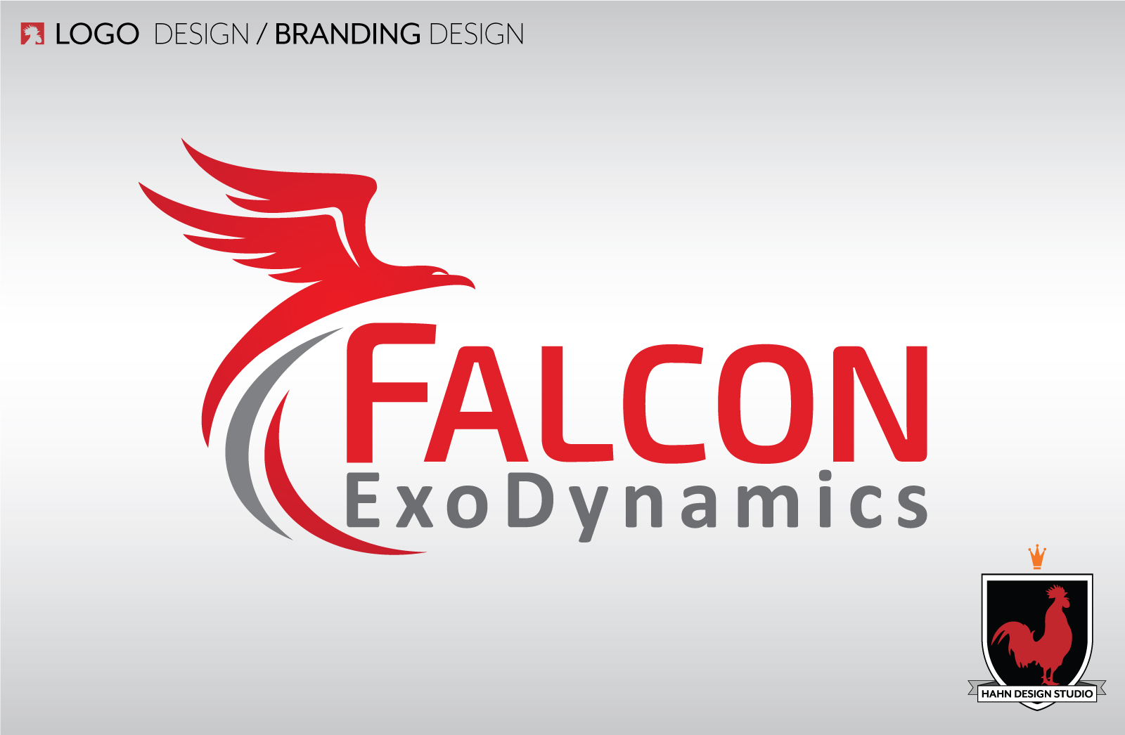 Logo and Business Card Design | Branding for Falcon ExoDynamics | Hahn Design Studio