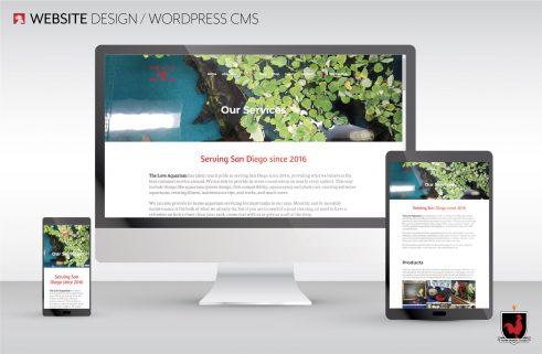 Website Design for The Love Aquarium designed by Hahn Design Studio, San Marcos, CA