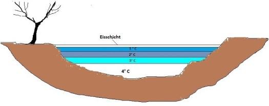 Bild 6 Wasserschichtung in einem zufrierenden See