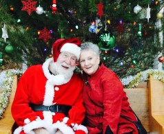 Mr. and Mrs Claus. Photo by Niccola Marsden