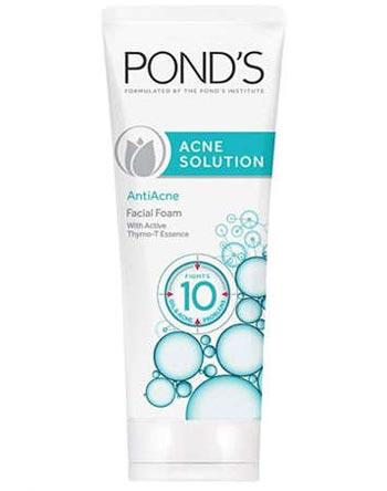 Sabun wajah bagus untuk kulit berjerawat - Pond's Acne Solution Anti-Acne Facial Foam
