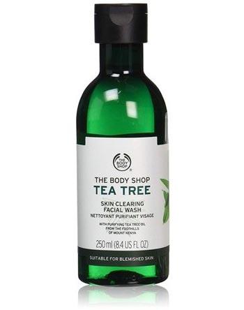 Sabun wajah bagus untuk kulit berjerawat - The Body Shop Tea Tree Skin Clearing Facial Wash