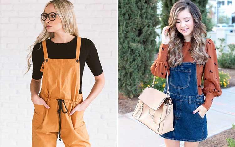Fashion style kekinian anak muda dengan overall