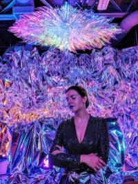 """Artist Haiiileen with her installation """"Ora"""""""