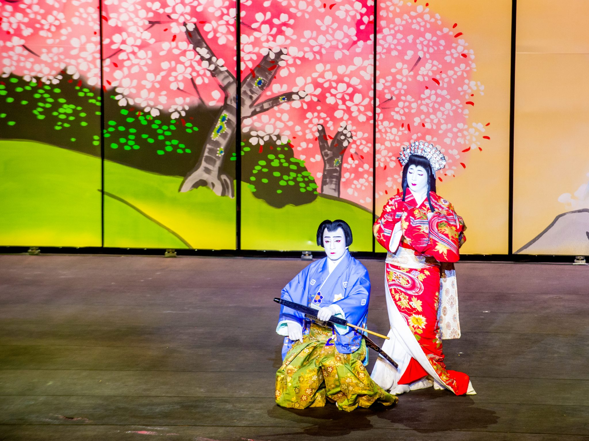 Kabuki di gedung teater Jepang
