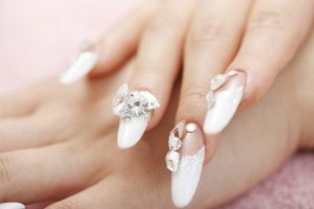 Japanese wedding nail art