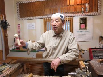 Kokeshi craftsman