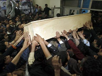 Benazir Bhutto inCoffin