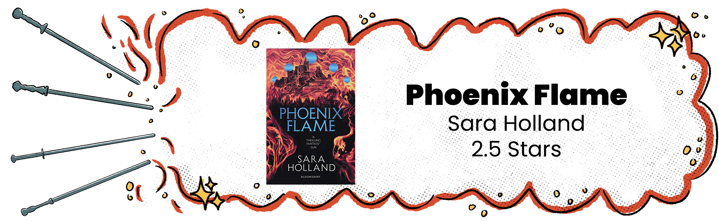 Phoenix Flame Review Banner with 2.5 Star Rating