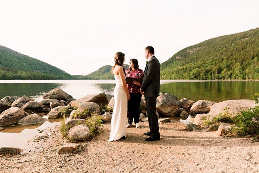 Acadia National Park elopement photos at Jordan Pond.