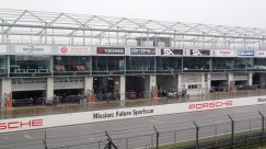 track and pit area