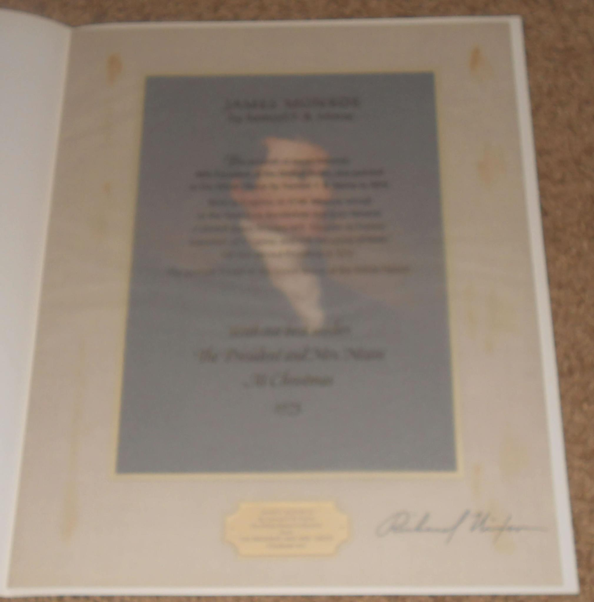 1973 Nixon Christmas Card Signed By President Nixon