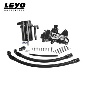 LEYO Motorsport Oil Catch Can Plus – VW Golf MK7 R & Audi S3 8V 2.0T (Black)