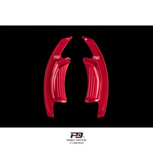 Audi S Tronic Billet Paddle Shift Extension (Red)(v3)