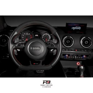 Audi S Tronic Billet Paddle Shift Extension (Black)(v2)