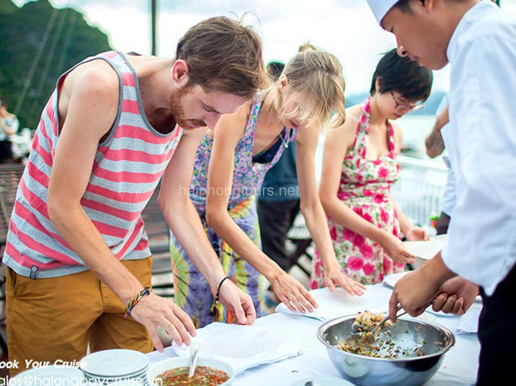 cooking class onboard