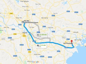 Transportation from Hai Phong to Hanoi airport
