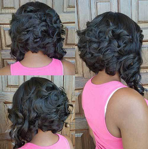 Curly Inverted Bob Haircut Hairstyles