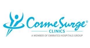 شعار عيادة كوزمسيرج لزراعة الشعر في دبي