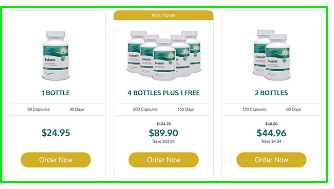 Image showing price comparison of Folexin.