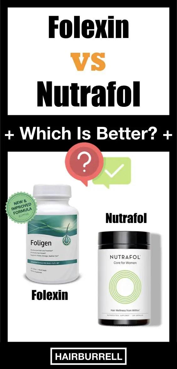Review of Nutrafol vs Folexin