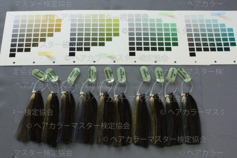 マット系のヘアカラー染料