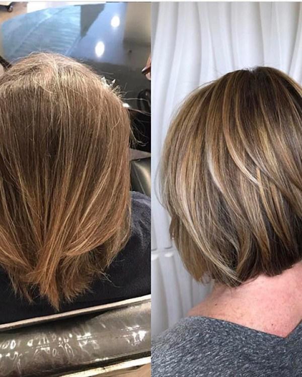 Blonde-Lights Best Short Hair Back View 2019