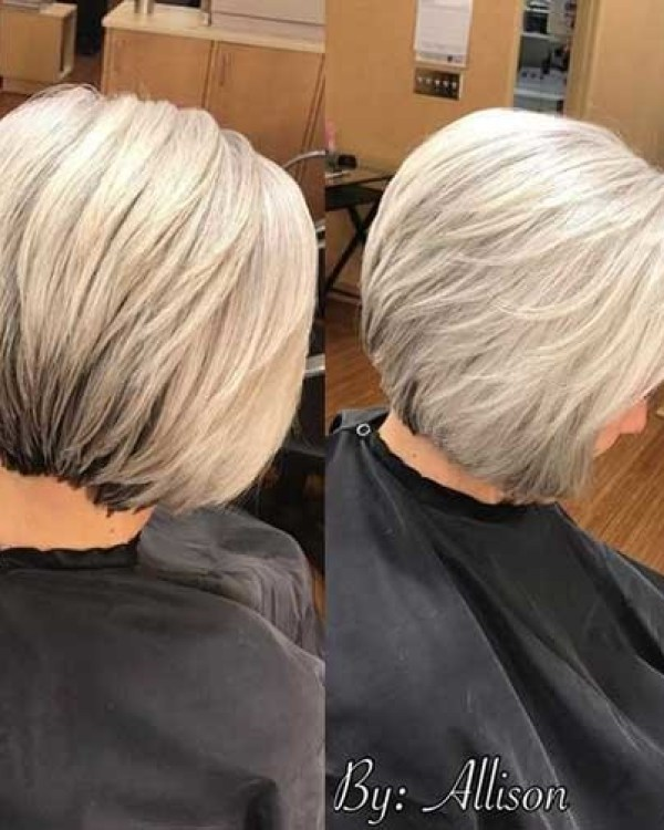Casual-Bob-Cut Best Short Hair Back View 2019