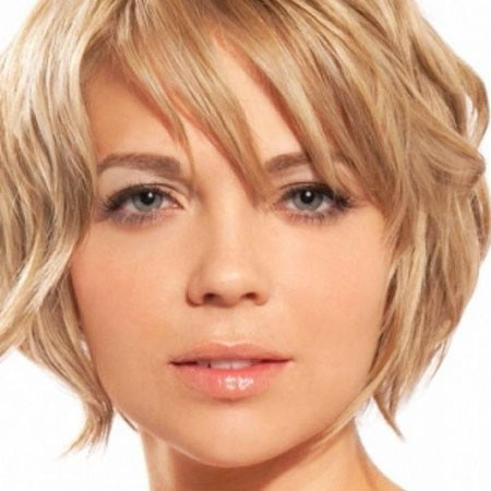 Hair-with-Bangs Grey Short Hairstyles 2019