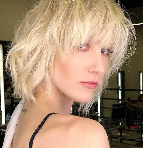 Messy-Hair New Short Hairstyles for Girls