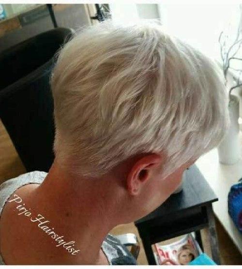 Back-View Stylish Short Stacked Bob Haircuts
