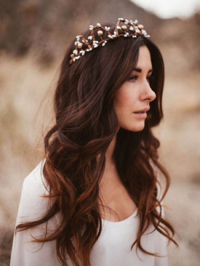 Boho-Inspired-Tiara Hairstyles with Tiara for Glam and Fab Look